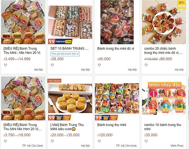 Sôi động thị trường bánh Trung thu online thời Covid-19